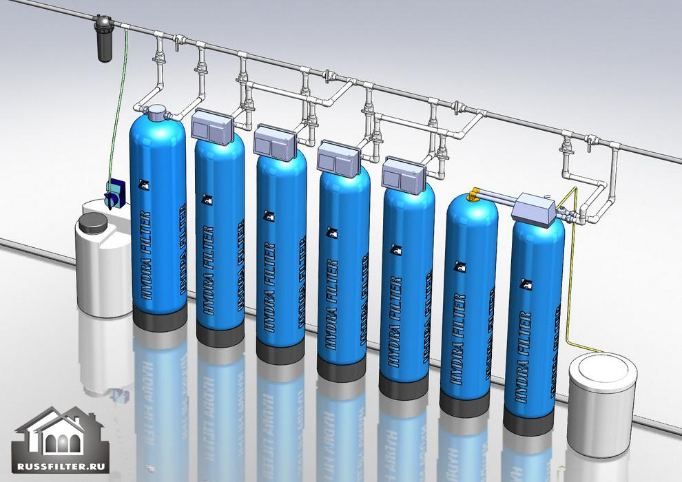 Водоподготовка для коттеджа #6.  Растворенное железо до 20 мг/л, жесткость до 10